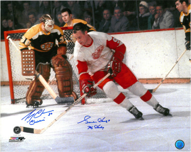 Gordie Howe & Gerry Cheevers Autographed Photo