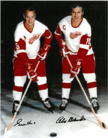 Gordie Howe & Alex Delvecchio Autographed Photo