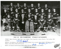 1954/55 Detroit Red Wings Team Signed Photo