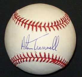 Alan Trammell Autographed Baseball