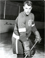 Gordie Howe Autographed Detroit Red Wings 11x14 Photo #3 - Young Posed