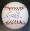 Steven Moya Autographed Baseball