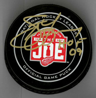 """Steve Yzerman Autographed Farewell to the Joe Official Game Puck Inscribed """"HOF 09"""""""