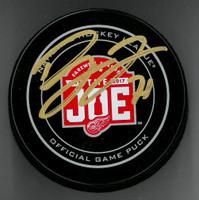 Dylan Larkin Autographed Joe Louis Farewell Puck