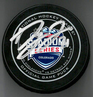 Dylan Larkin Autographed Stadium Series Game Puck