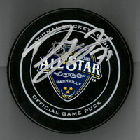 Dylan Larkin Autographed 2016 All Star Game Puck