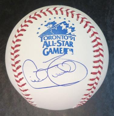 Cecil Fielder Autographed All Star Baseball