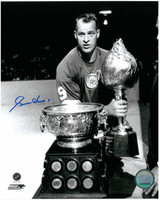 Gordie Howe Autographed Detroit Red Wings 8x10 Photo #8 - Hart Trophy