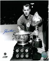 Gordie Howe Autographed Detroit Red Wings 8x10 Photo #8 - Hart Trophy