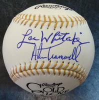 Alan Trammell & Lou Whitaker Autographed Baseball