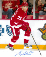 Andreas Athanasiou Autographed Detroit Red Wings 16x20 Photo #1 - NHL Debut