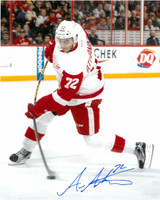 Andreas Athanasiou Autographed Detroit Red Wings 16x20 Photo #3 - Hard Shot