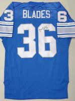 Bennie Blades Autographed Detroit Lions Authentic Jersey