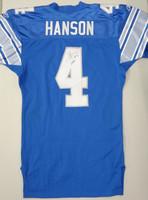 Jason Hanson Autographed Detroit Lions Team Issued 2001 Jersey
