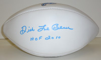Dick LeBeau Autographed Detroit Lions White Panel Football