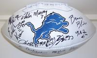 1991 Detroit Lions Team Autographed Football (26 Signatures)