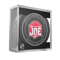 Riley Sheahan Autographed Joe Louis Farewell Season Game Puck (Pre-Order)