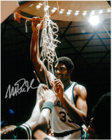 Magic Johnson Autographed MSU Spartans 8x10 Photo #2 - Cutting Down the Net