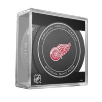 Riley Sheahan Autographed Detroit Red Wings Official Game Puck (Pre-Order)
