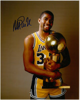 Magic Johnson Autographed LA Lakers 8x10 Photo #13 - NBA Champs!