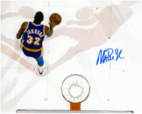 Magic Johnson Autographed LA Lakers 8x10 Photo #15 - Overhead View