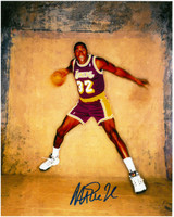 Magic Johnson Autographed LA Lakers 8x10 Photo #16 - Photo Shoot
