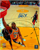 Magic Johnson Autographed LA Lakers 8x10 Photo #17 - Finger Roll