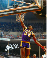 Magic Johnson Autographed LA Lakers 8x10 Photo #18 - Slam Dunk