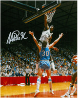 Magic Johnson Autographed MSU Spartans 8x10 Photo #19 - Dunk vs ISU