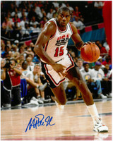Magic Johnson Autographed Dream Team 8x10 Photo #20 - Action