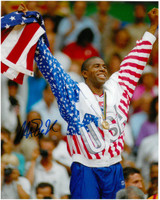 Magic Johnson Autographed Dream Team 8x10 Photo #21 - Gold Medal