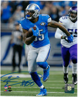 Eric Ebron Autographed Detroit Lions 8x10 #2 - Vertical Action vs Vikings