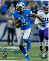 Eric Ebron Autographed Detroit Lions 8x10 #2 - Vertical Action vs Vikings