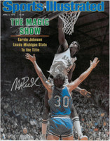 Magic Johnson Autographed MSU Spartans 11x14 Photo #1 - 1979 Sports Illustrated