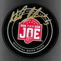 Nicklas Lidstrom Autographed Farewell to the Joe Official Game Puck