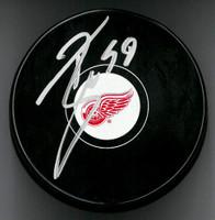 Tyler Bertuzzi Autographed Detroit Red Wings Souvenir Puck