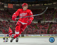 Dylan Larkin Autographed Detroit Red Wings 16x20 Photo #2 - Low Angle