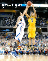 "Trey Burke Autographed Michigan Wolverines 16x20 Photo #3 - ""The Shot"" Vertical"