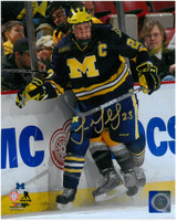 Luke Glendening Autographed Michigan Wolverines 8x10 Photo #3 - Big Check