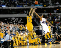 "Trey Burke Autographed Michigan Wolverines 16x20 Photo #1 - ""The Shot"""