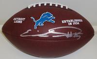 Eric Ebron Autographed Detroit Lions Logo Football