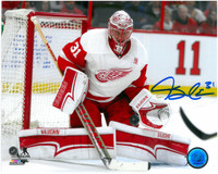 Jared Coreau Autographed Detroit Red Wings 8x10 Photo #1 - 2016/17 Action