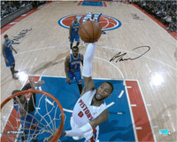 Andre Drummond Autographed Detroit Pistons 16x20 Photo #2 - 2013/14 Home Slam Dunk