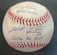 Michael Fulmer Game Used First Complete Game Shutout Baseball - Autographed and Inscribed