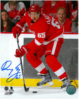 Danny DeKeyser Autographed Detroit Red Wings 8x10 Photo #5 - Along the Boards