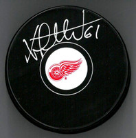 Xavier Ouellet Autographed Detroit Red Wings Souvenir Puck