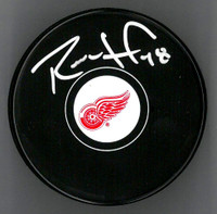 Ryan Sproul Autographed Detroit Red Wings Souvenir Puck