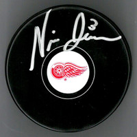 Nick Jensen Autographed Detroit Red Wings Souvenir Puck