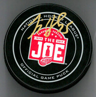 Jimmy Howard Autographed Farewell to the Joe Official Game Puck