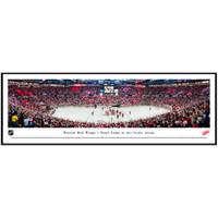 Final Game at Joe Louis Arena Panoramic Print Framed
